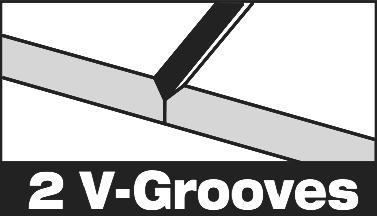 2-V grooves