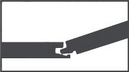 Zámkový spoj CLIP A. Vyzkoušený a prověřený systém montáže, kde je zámek vložen podélně v úhlu přes protistranu  a poté sklopen směrem dolů. Lehké klepnutí kladívkem s dřevěným blokem a krátká strana perfektně zapadne do správného místa.