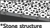 Podlaha se strukturou kamene.