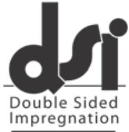 Oboustranná impregnace - dvakrát tak odolná podlaha díky systému DSI. DSI je zkratka pro Double-Sided Impregnation (impregnace ze dvou stran). Během procesu lisování, je lepidlo vlisováno tak hluboko do dřeva, dokud není dosaženo úrovně saturace. Následně se aplikuje lak na horní část dřevěné dýhy. Dřevo absorbuje lak, který je v kontaktu s lepidlem. Díky této technice je dřevo zcela nasyceno a horní vrstva se stává velmi odolnou.