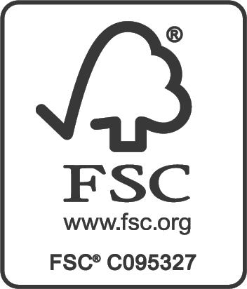 Certifikát FSC. FSC je mezinárodní ochranná známka, která označuje, že výrobek pochází z dobře-obhospodařovaných lesů.