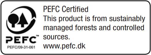Tento produkt pochází z lesů obhospodařovaných trvale udržitelným způsobem a z kontrolovaných zdrojů.